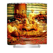 Cast Into The Wind Shower Curtain