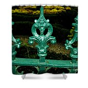 Cast Iron Fence Top 2  Shower Curtain