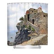 Castello Della Dragonara In Camogli Shower Curtain by Joana Kruse