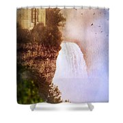 Castle At The Edge Of The Falls Shower Curtain