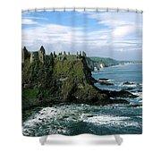Castle At The Seaside, Dunluce Castle Shower Curtain