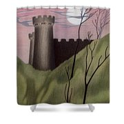 Castle By Moonlight Shower Curtain