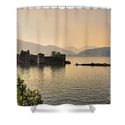 Castle Cannero On Lake Shower Curtain