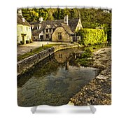 Castle Combe Bridgeside Shower Curtain