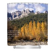 Castle Crags Autumn Shower Curtain