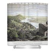 Castle Donaustauf, 1823 Shower Curtain