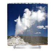 Castle Geyser Erupting Shower Curtain