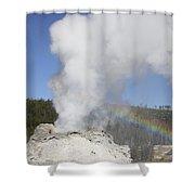 Castle Geyser Eruption, Upper Geyser Shower Curtain