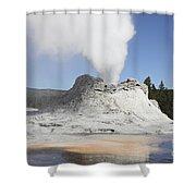 Castle Geyser Steam Phase, Upper Geyser Shower Curtain
