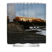 Castle Geyser Yellowstone National Park Shower Curtain