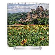 Castle In Dordogne Region France Shower Curtain