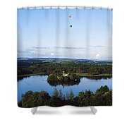 Castle Island, Lough Key Forest Park Shower Curtain
