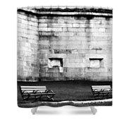 Castle Island  Shower Curtain