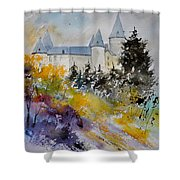 Castle Of Veves Belgium Shower Curtain