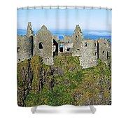 Castle On A Cliff, Dunluce Castle Shower Curtain