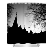 Castle Silhouette Shower Curtain by Semmick Photo