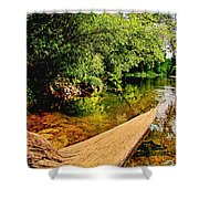 Castor River View Shower Curtain