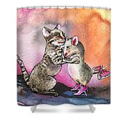 Cat And Mouse Reunited Shower Curtain