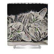 Cat Friends Shower Curtain