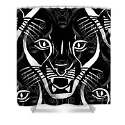 Cat Mask Shower Curtain