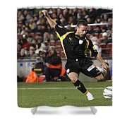 Catalan Player Shooting Shower Curtain