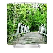Catalpa Plantation Bridge Shower Curtain