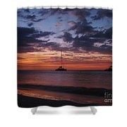 Catamarans  At Sunset Shower Curtain