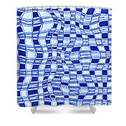Catch A Wave - Blue Abstract Shower Curtain
