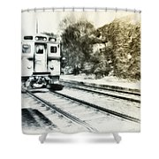Catch That Train Shower Curtain