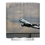 Cathay Pacific B-747-400 Shower Curtain
