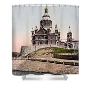Cathedral In Helsinki Finland - Ca 1900 Shower Curtain