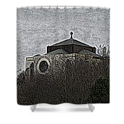 Cathedral On The Hill Shower Curtain