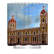 Cathedral On The Square Shower Curtain