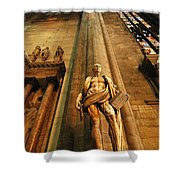 Cathedral Statue Milan Italy Shower Curtain