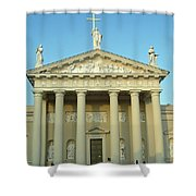Cathedral. Vilnius. Lithuania Shower Curtain