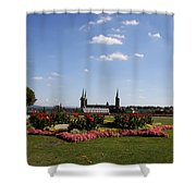 Cathedrale And Cloister Garden Shower Curtain