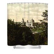 Catholic Church In Kiev - Ukraine - Ca 1900 Shower Curtain