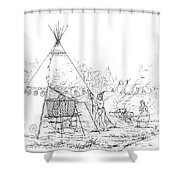 Catlin: Steam Bath Shower Curtain