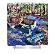 Catoctin Bench Shower Curtain