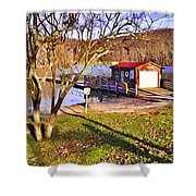 Catoctin Lake Boathouse Shower Curtain