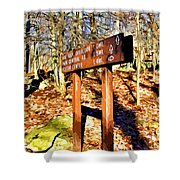 Catoctin Trail Sign Shower Curtain