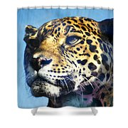 Cats Eyes - Leopard Shower Curtain