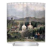 Catskill Village, 1839 Shower Curtain