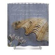 Catspaw Seashell Shower Curtain