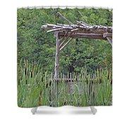 Cattails In The Garden Shower Curtain