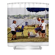 Caught Another One  Shower Curtain by Brian Wallace