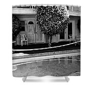 Caution Palm Springs Shower Curtain
