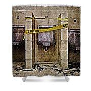 Caution Shower Curtain