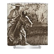 Cavalry Rides Again Shower Curtain
