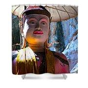 Cave Buddha Shower Curtain